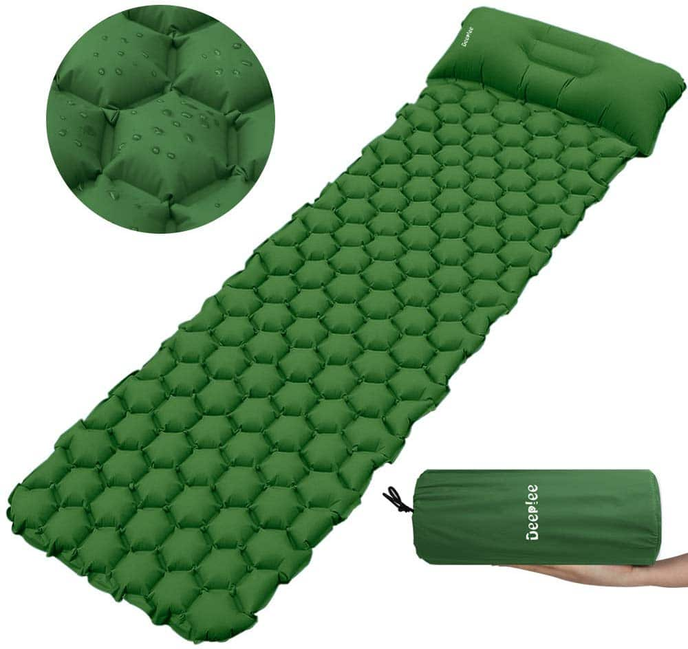 Inflatable Sleeping-Mat with Pillow