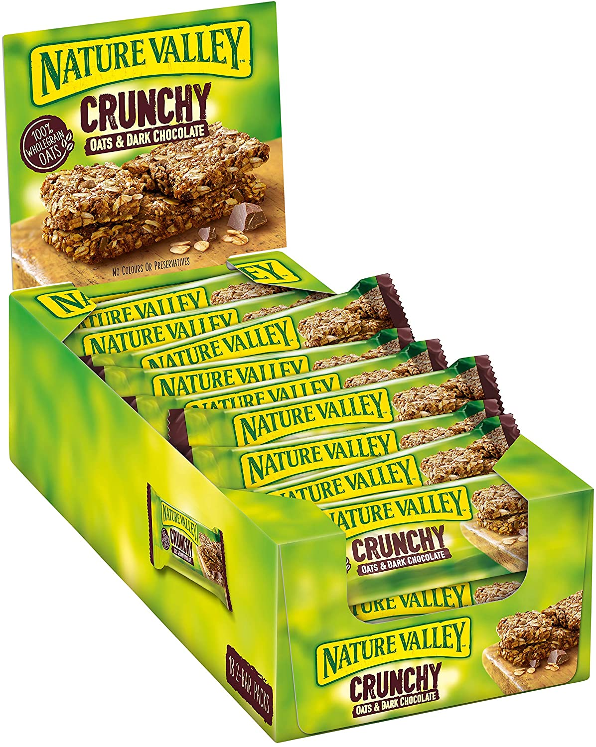 Nature Valley Crunchy Oats ans chocolate cereal bars