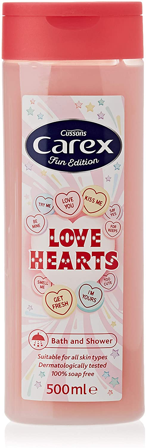 Carex Shower Gel Fun Editions Love Hearts (500ml x 6 Bottles)