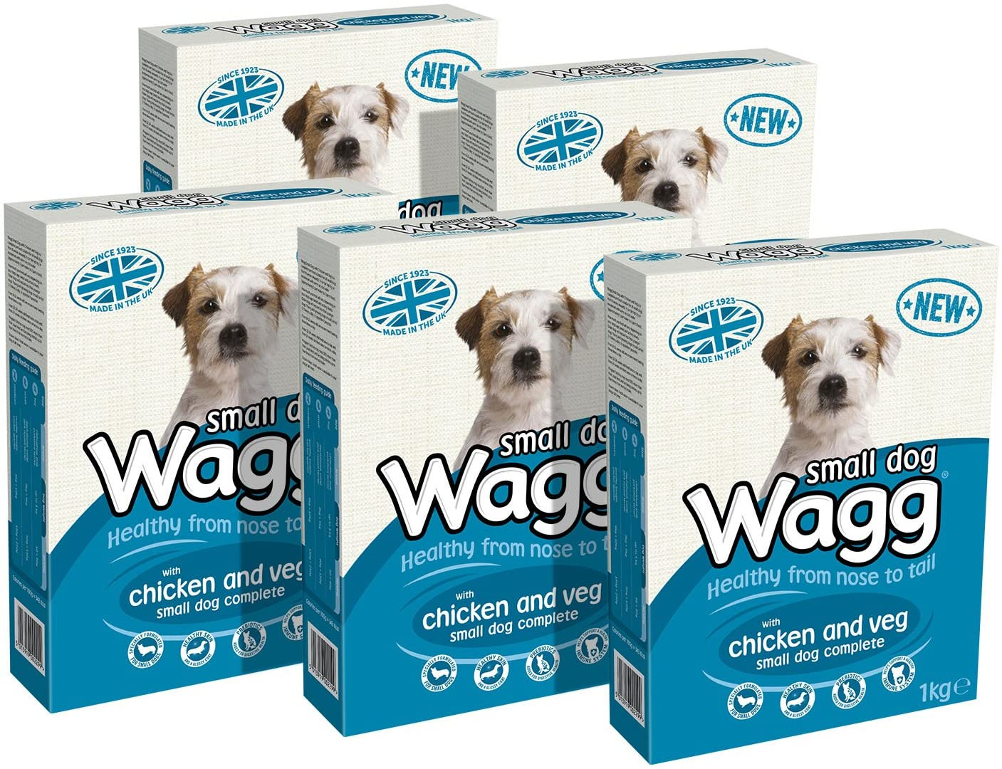 Wagg Small Dog with Chicken and Veg, 1 kg, Pack of 5