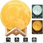 Dimmable LED 3D Printing Moon Lamp