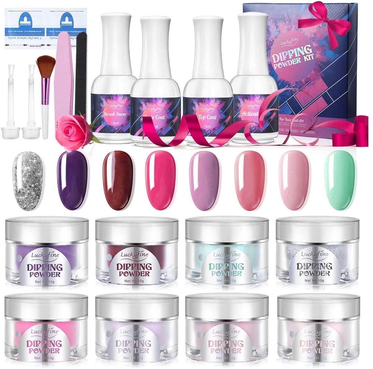 Luckyfine Dipping Nail Powder Kit