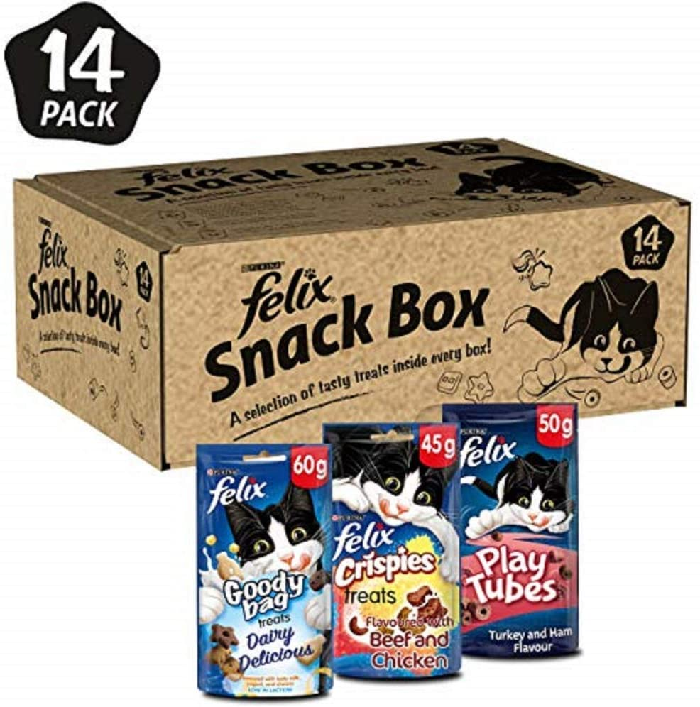 Felix Snack Box Cat Treat 765g (Mixed pack of 14)
