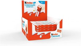 Kinder Chocolate Medium Bar, Box of 36 Bars