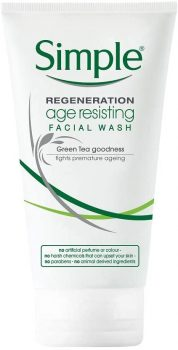 Simple age-resisting facial wash