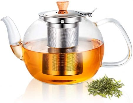 Glass Teapot with Removable Stainless Steel Infuser L