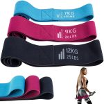 Set Fabric Fitness Exercise Loop Bands