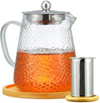 Frosted Glass Teapot Kettle ml oz