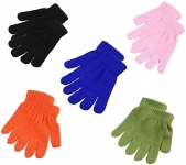 15 Pairs Boys Girls Winter Stretchy Knit Gloves