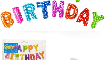 16Inch Happy Birthday Balloon Banner