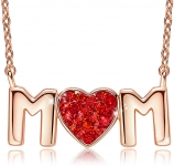 18K Gold Mum Necklace