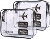 2pcs Clear Toiletry Bag with Zipper Travel Luggage Pouch