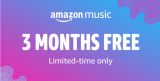 Special offer: 3 months Amazon Music Unlimited for FREE