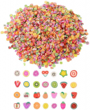 3200 Pieces Mini 3D Fruit Fimo Slices for Slime