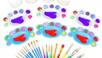 34pcs Kids Paint Tools Set For Boys And Girls
