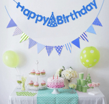 BIRTHDAY BANNER WITH LIGHTS