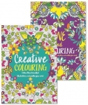 Adult Colouring Books – Set of 2 – Anti-Stress – Colour Therapy Patterns