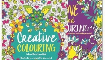 Adult Colouring Book Set of 2