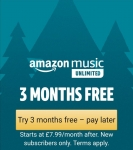 Amazon Music Unlimited 3 MONTHS FREE