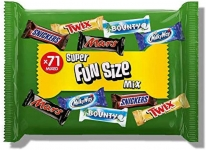 Assorted Fun Size Chocolate Bars 71bars