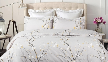 Cheap Bedsure Oyster Grey Spring Duvet Cover 3 pcs
