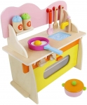 Cheap Kids Wooden Pretend Kitchen Toy Set