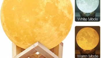 Dimmable LED Moon Lamp