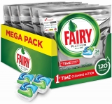 Fairy Platinum All-in-One Dishwasher Bulk 120 Tablets