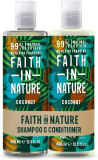 Faith in Nature Coconut Shampoo and Conditioner Set