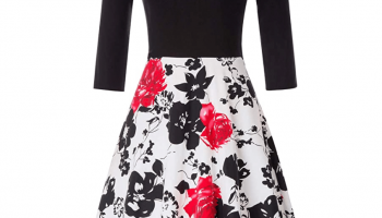 80% off Elegant Vintage Floral Patchwork Dress