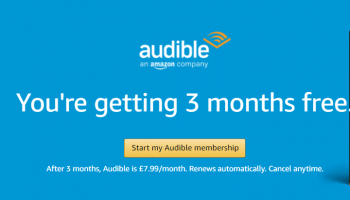 Get 3 months of Audible FREE