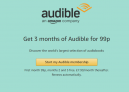 Get 3 months of Audible for 99p