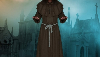 Halloween Costume Friar Medieval Hooded Monk