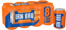 IRN-BRU Fizzy Drink Cans Pack of 8