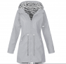 Hooded Zipped Trench Coats.