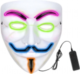 LED Halloween Face Mask Multiple Colors Light up