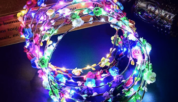 LED Flower Crown Wreath Headband
