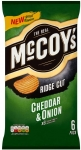 McCoy's Cheddar Onion Crisps 6 Pack