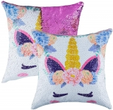 Mermaid Sequin Throw Pillow