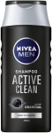 NIVEA MEN Active Clean Shampoo (250ml), Activated Charcoal Shampoo for Normal to Greasy Hair