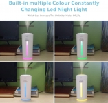 Night Light Purifier, Portable Mini Humidifier with 7 Colors Led Light Noise Cancelling & USB Powered