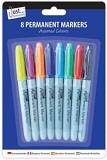 Pack Of 8 Coloured Permanent Markers