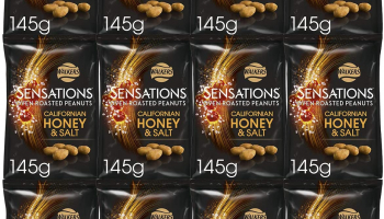 Sensations Californian Honey and Salt Roasted Peanuts, 12 x 145g