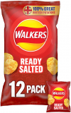 Walkers Ready Salted Multipack Crisps, 12x25g