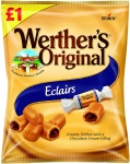 Werthers Eclair £1 PMP Bag, 100 g (Pack of 12)