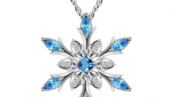 Women Necklace Snowflake Pendant Necklace