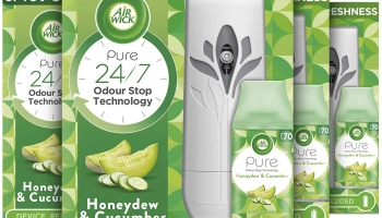 Air Wick Freshmatic Autospray Kit, Honeydew & Cucumber – 4 Kits: 4 Gadgets + 4 Refills x 250ml (1000ml)