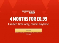 4 months of Amazon Music Unlimited for £0.99