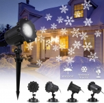 B-right IP65 Waterproof Snowflake Christmas Projector Lights Outdoor 70% OFF