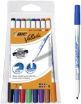 BIC Velleda 1721 Whiteboard Pens – Assorted Colours, Pouch of 8